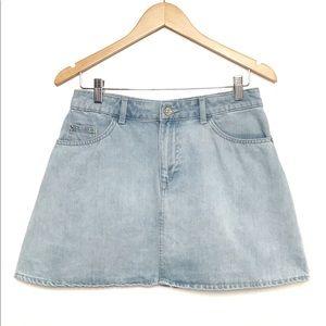 Divided x H&M Light Wash A-Line Jean Skirt Sz 10